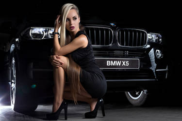 Hot BMW Model Girl by ROGUE-RATTLESNAKE