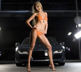 Hot Audi Bikini Girl Model by ROGUE-RATTLESNAKE