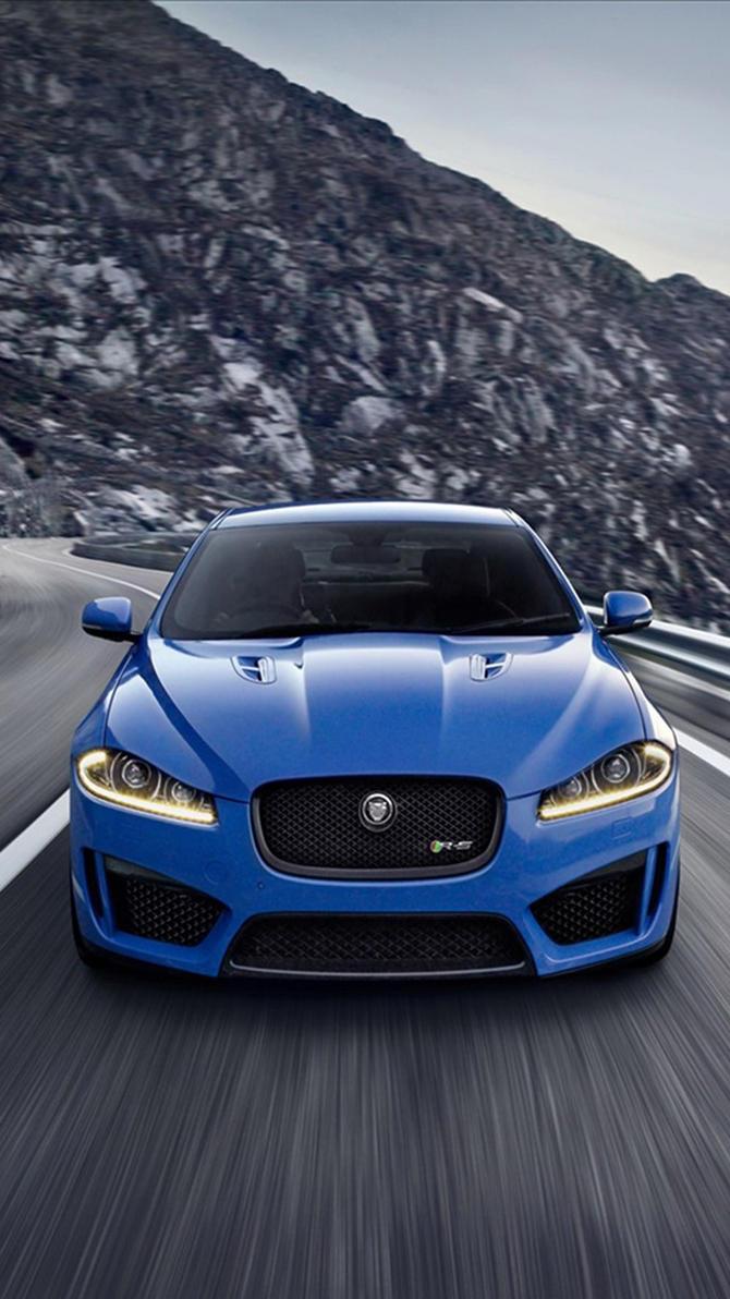 Blue Jaguar XFR S Green S5 Mobile Wallpaper By ROGUE RATTLESNAKE