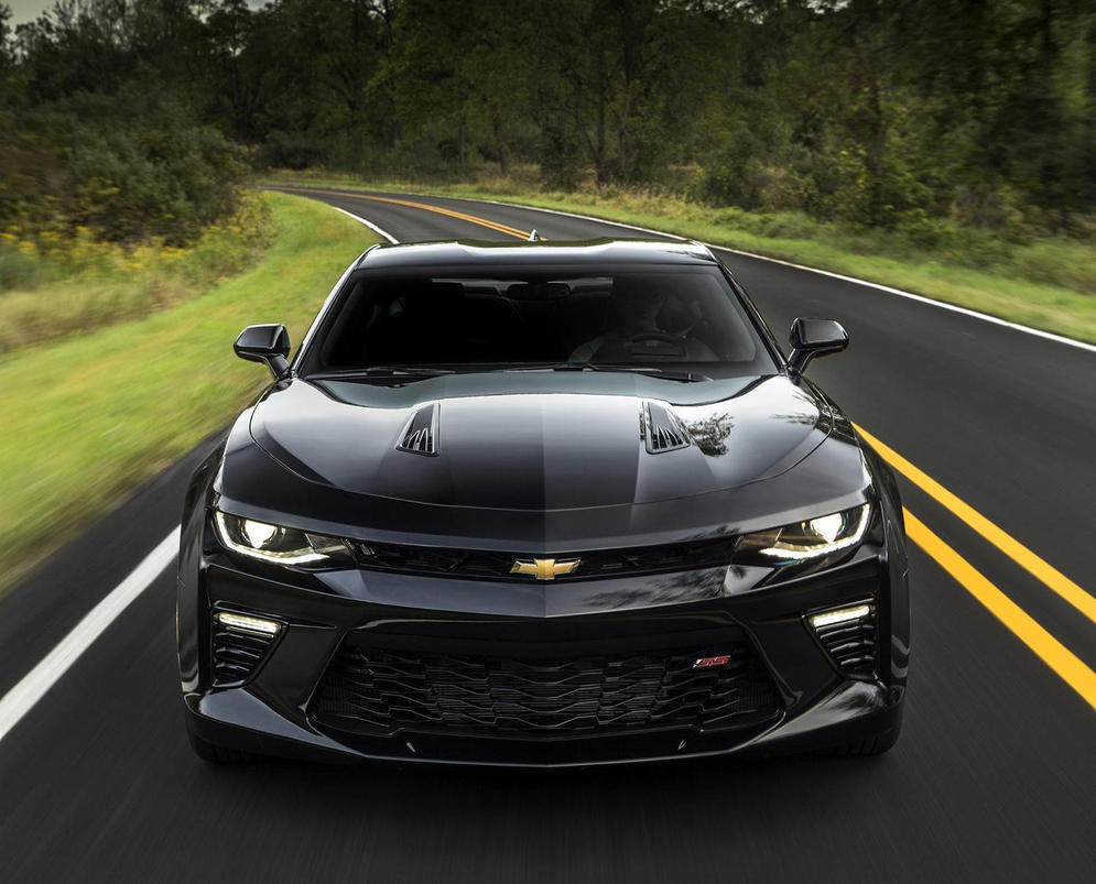 2016 Black Chevrolet Camaro SS - Front by ROGUE-RATTLESNAKE on ...
