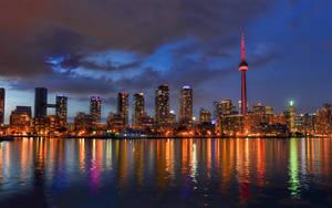Beautiful Toronto Lights at Night by ROGUE-RATTLESNAKE