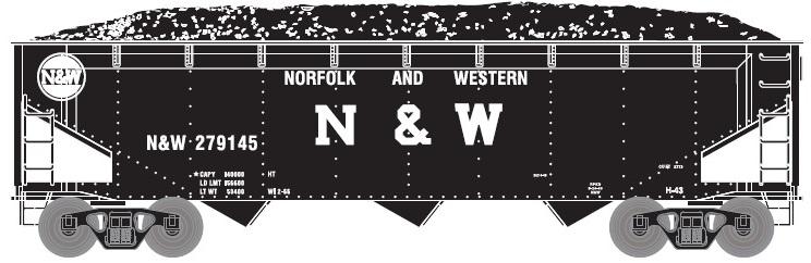 Norfolk n Western (NnW) Hopper Car by ROGUE-RATTLESNAKE