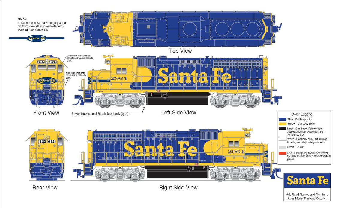 Santa Fe EMD GP40-2 by ROGUE-RATTLESNAKE