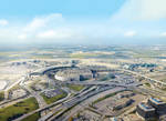 Toronto Pearson International Airport Aerial View by ROGUE-RATTLESNAKE