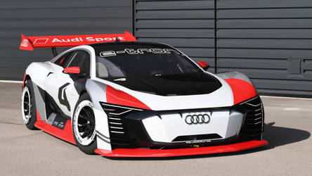 2018 Audi E Tron Vision Gran Turismo - Right Side by ROGUE-RATTLESNAKE