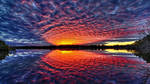 Fiery Reflection From Sky To Water by ROGUE-RATTLESNAKE