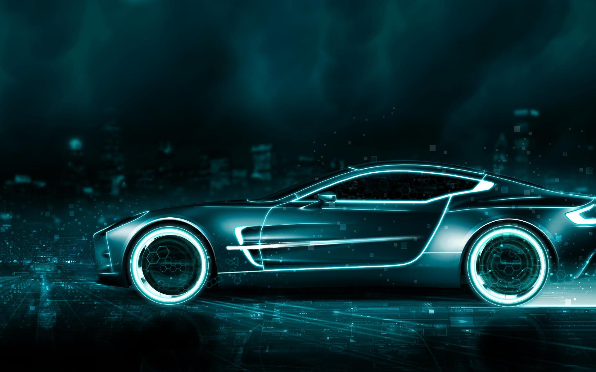 Tron Legacy Aston Martin Vanquish Concept By Rogue Rattlesnake On Deviantart