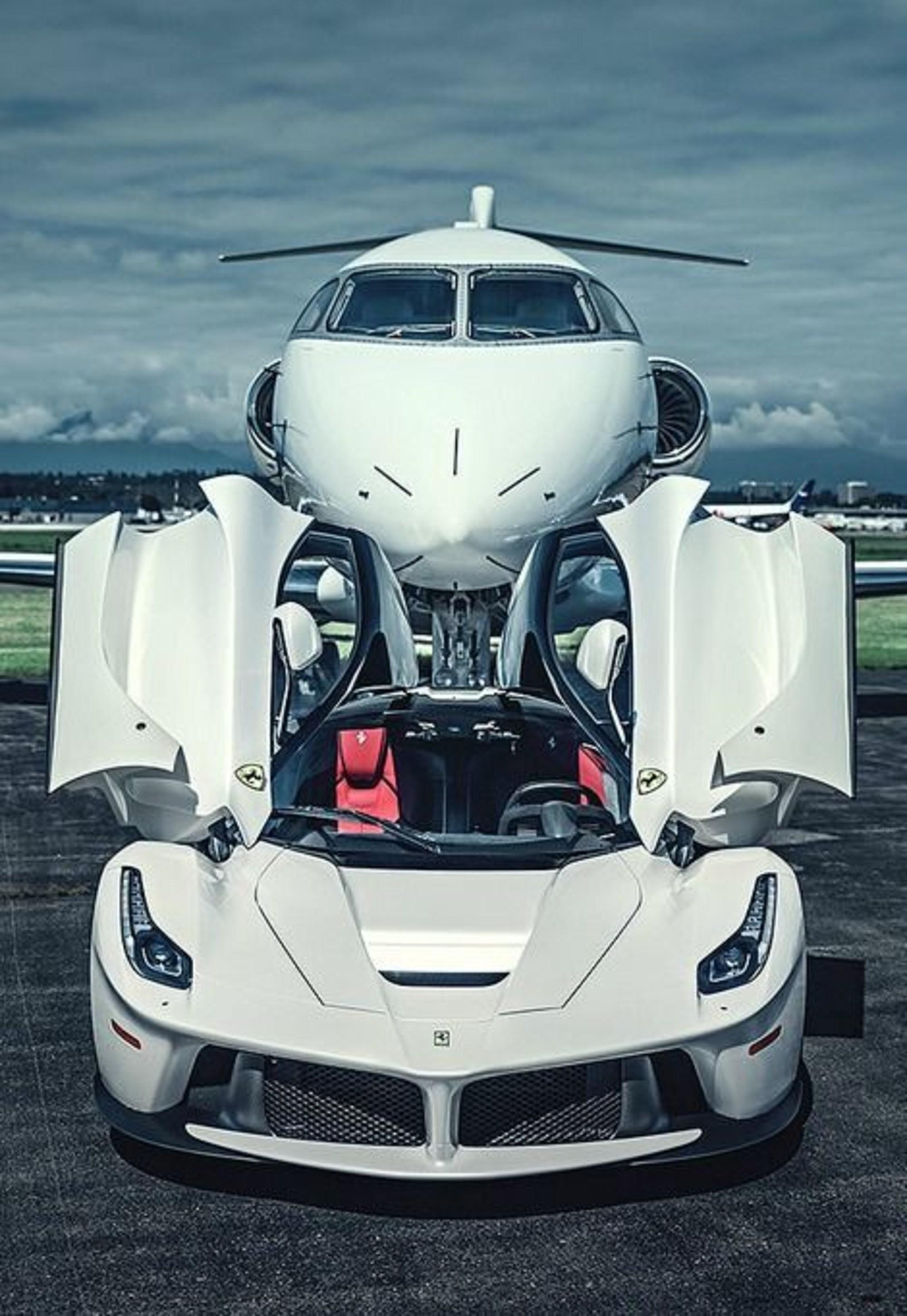 White Ferrari Laferrari And Private Airline By Rogue Rattlesnake On Deviantart