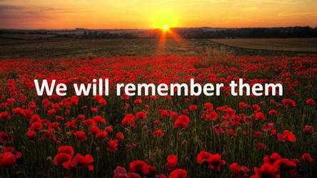 We Will Remember Them - Remembrance Day