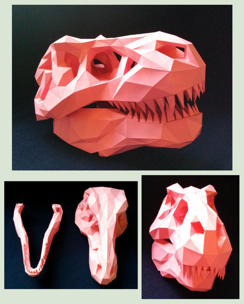T-Rex Skull Papercraft by Gedelgo