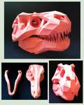 T-Rex Skull Papercraft