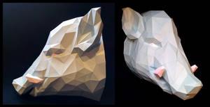 Boar Mount Papercraft
