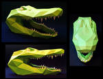 Alligator Head Papercraft