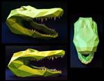 Alligator Head Papercraft