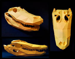 Alligator Skull Papercraft by Gedelgo