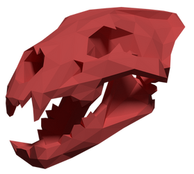 Lion Skull Papercraft Teaser by Gedelgo