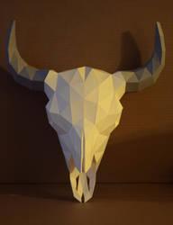 Bison Skull Papercraft V2