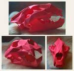 Lion Skull Papercraft
