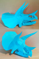 Triceratops Skull Papercraft by Gedelgo