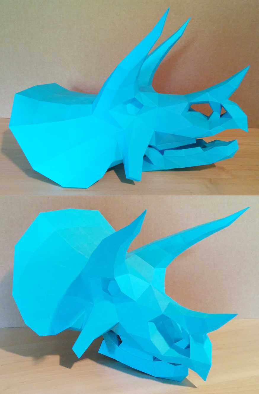 Triceratops Skull Papercraft