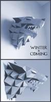 Stark Direwolf Sigil Papercraft