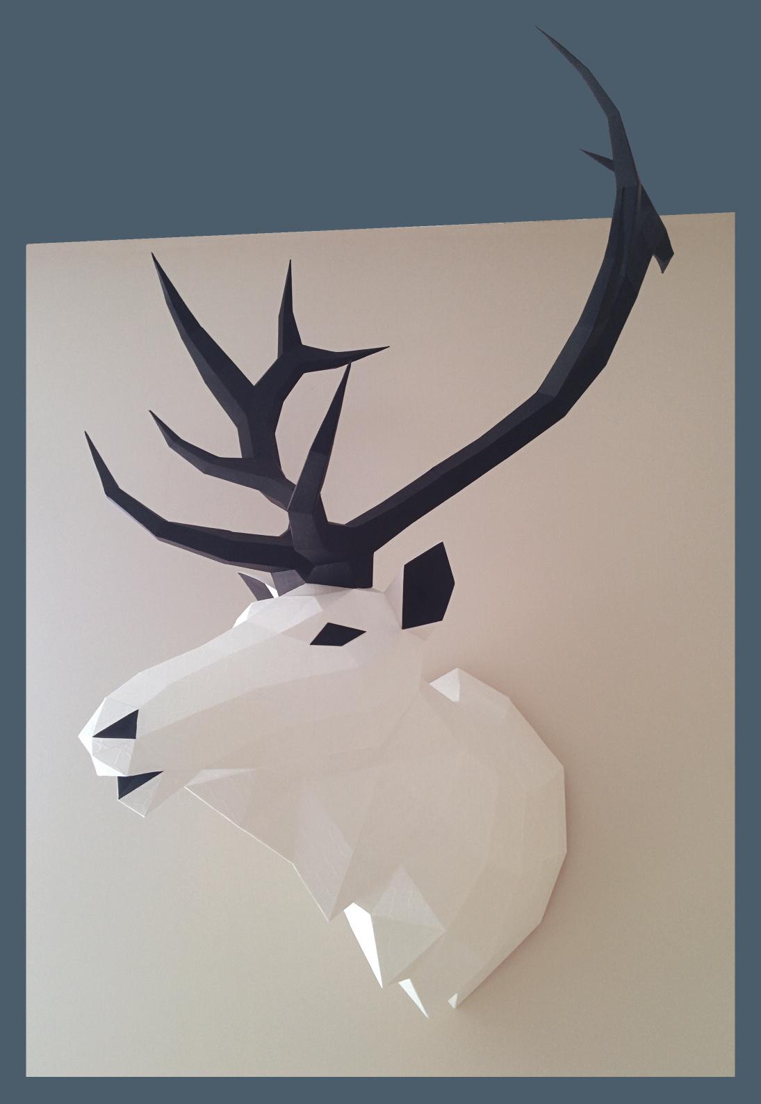 Elk Head Papercraft