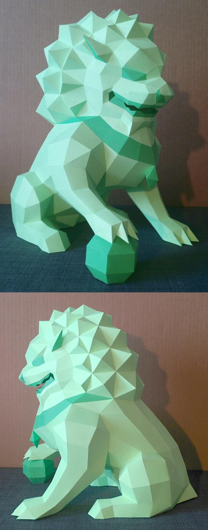Lion Guardian (Foo Dog) Papercraft