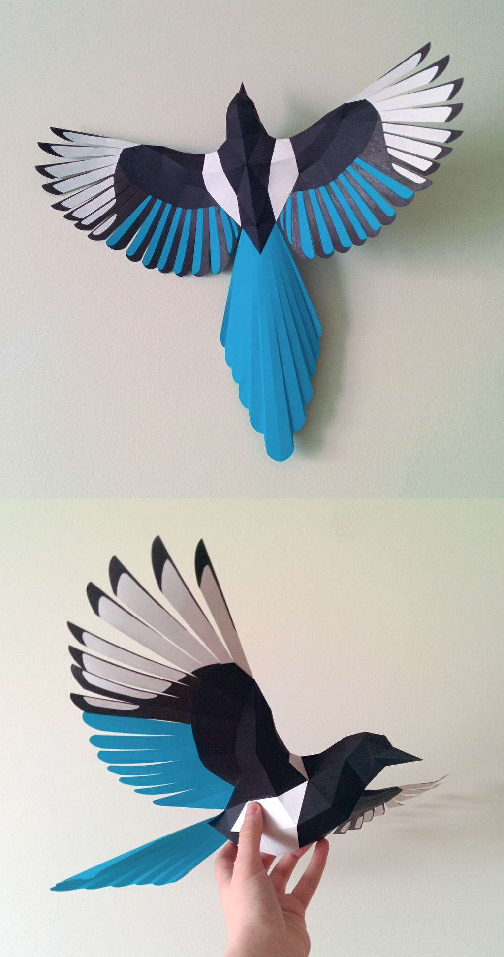 Magpie Papercraft by Gedelgo