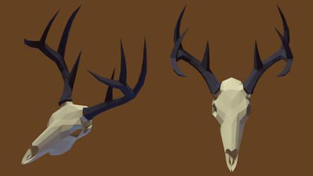 Deer Skull Render