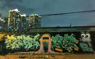 Pers.Graffiti Moganshan Road, Shanghai 2016.09.29