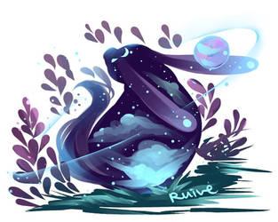 galatic bunny by ruivemin