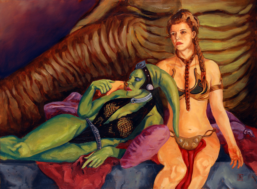Slave Leia and Oola by bfowlerOola And Leia Submit To Jabba