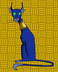 Egyptian cat by Blondbraid