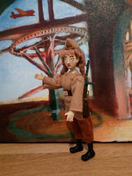 3D printed doll in uniform