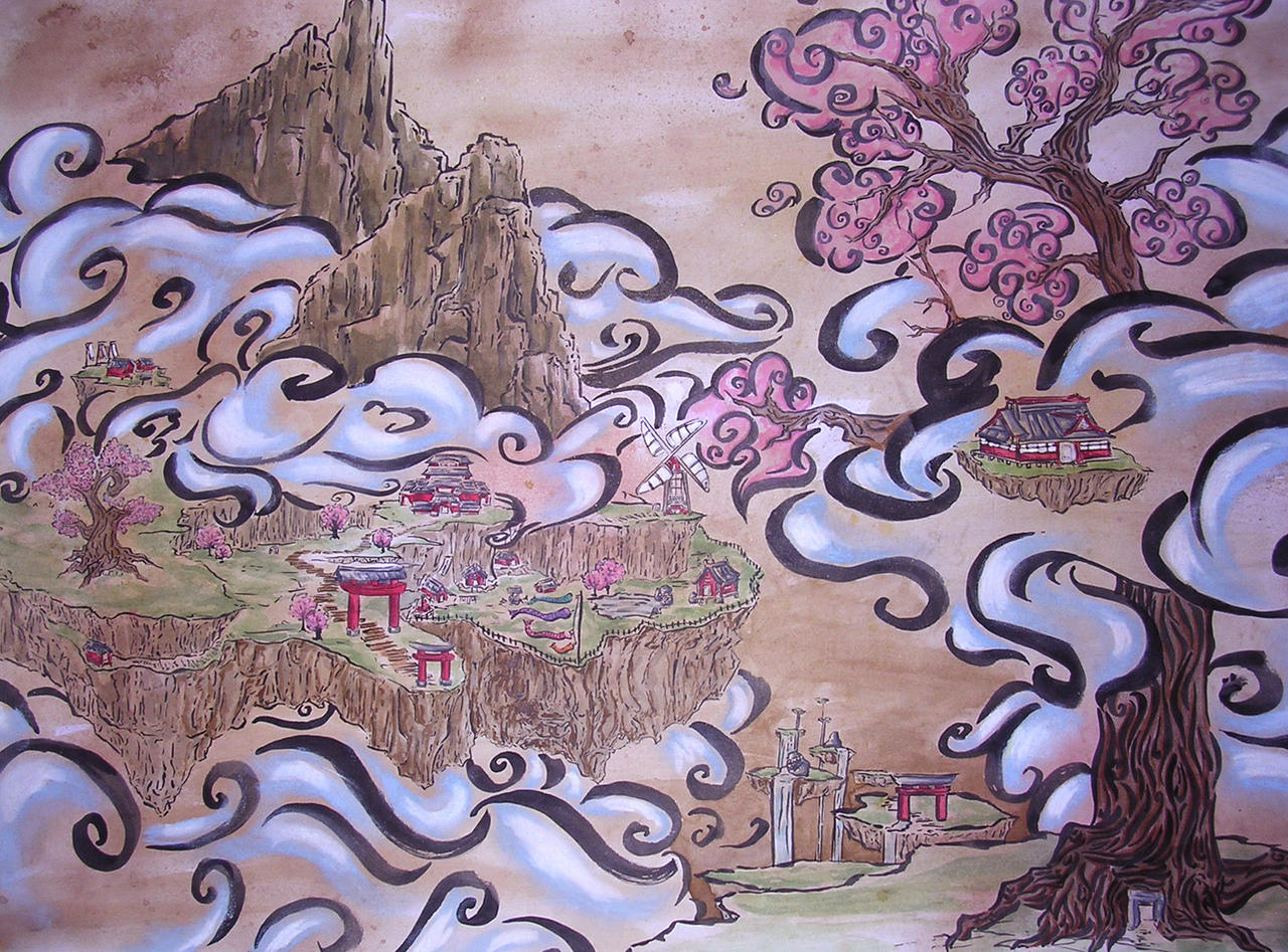 Okami Style Landscape by Yukki-Chan