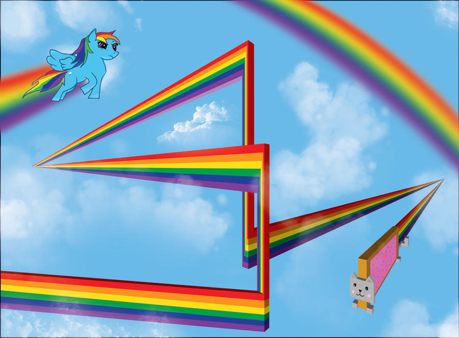 Nyan Cat And Rainbow Dash Rainbow Dash vs Nyan Cat by