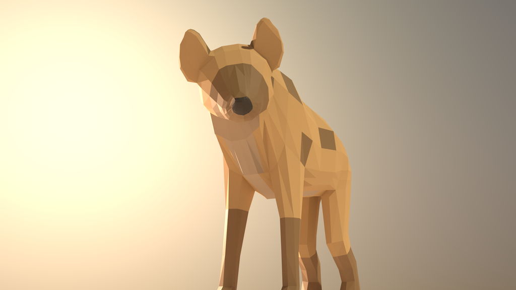 Low Poly Hyena by Gyramuur