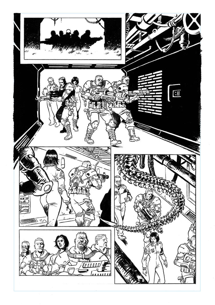 ALIEN SAMPLE PAGE 01 by SERGIOTARQUINI
