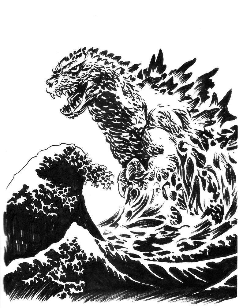Godzilla cover by SERGIOTARQUINI