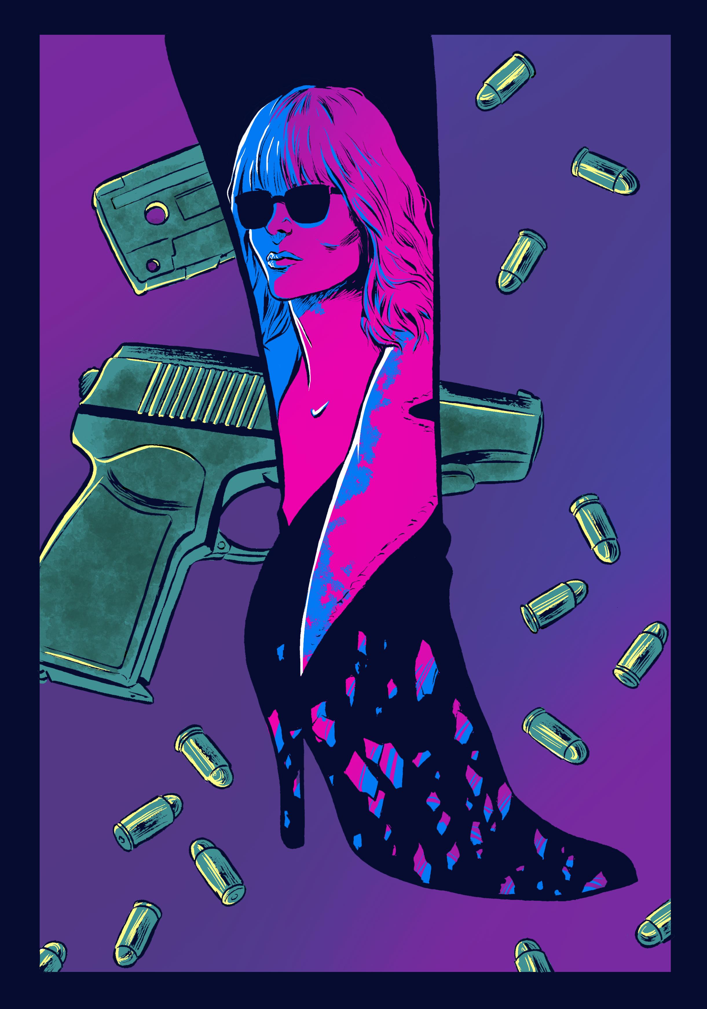 Atomic Blonde Fan Art by SERGIOTARQUINI