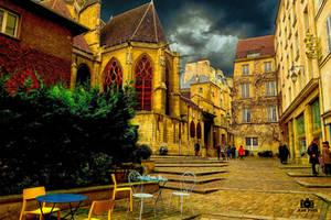 quartier de l hotel de ville Paris by jenyvess