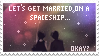 + spaceship (stamp) + by kuu-jou