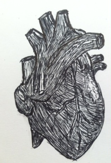 Ink Heart by TheInsanityOfTheSane