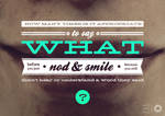 nod and smile