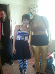 Lady R2 and 3PO
