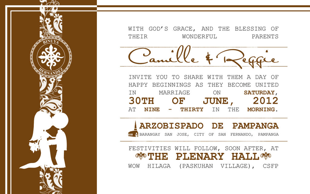 wedding invitation layouts