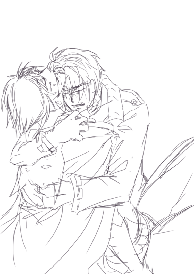 Sketch : Dying in your arms by namielric on DeviantArt