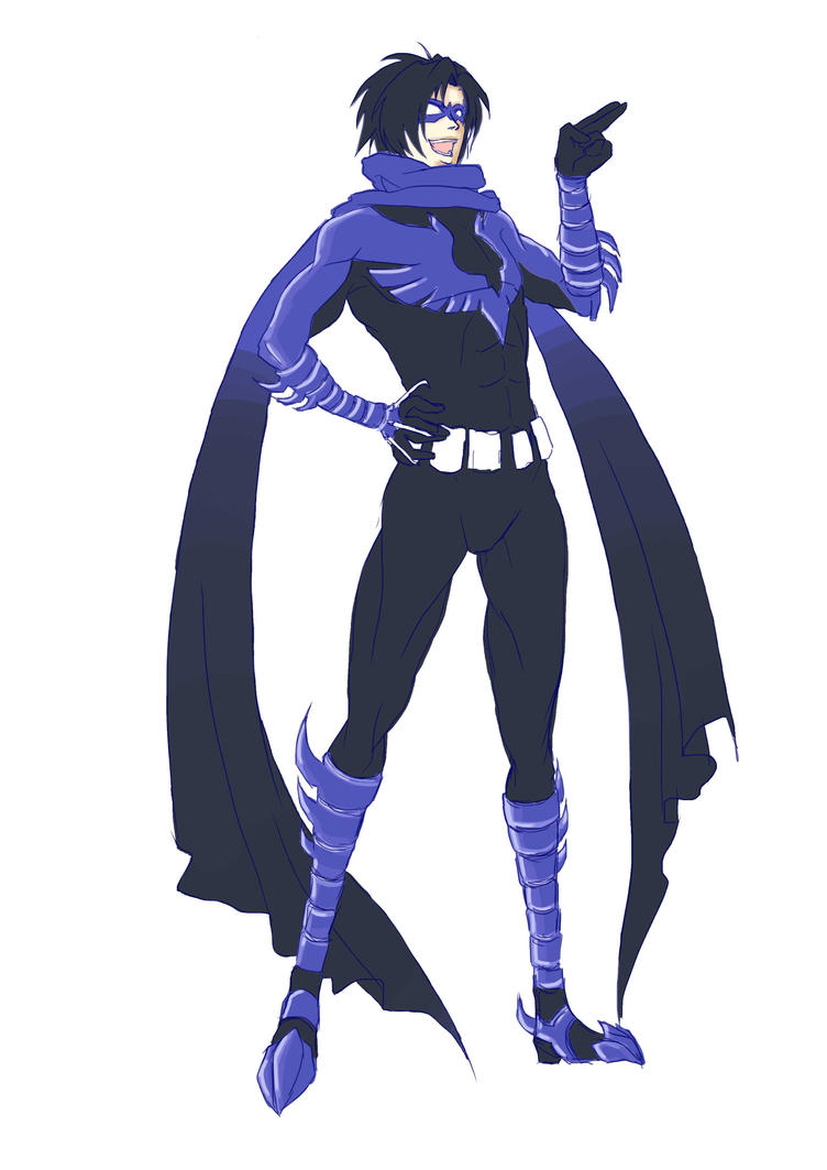 Nightwing Redesign : Pre-color by namielric