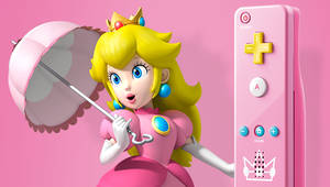 Peach with her own Wii remote
