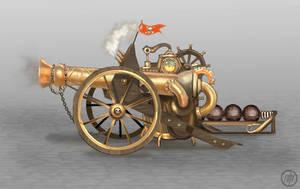 Steam Cannon by Vermin-Star